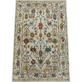 All-Oer Vegetable Dye Oushak Turkish Area Rug 6x9 image 2