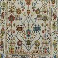 All-Oer Vegetable Dye Oushak Turkish Area Rug 6x9 image 3