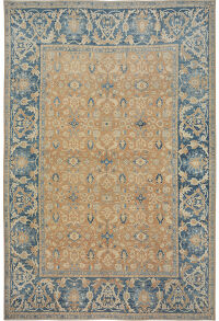 Floral Oushak Vegetable Dye Turkish Oriental Area Rug 13x15