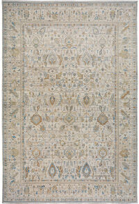 All-Over Floral Vegetable Dye Oushak Turkish Area Rug 10x14