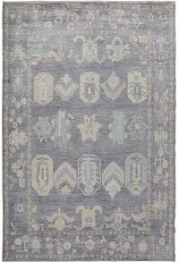 All-Over Vegetable Dye Oushak Turkish Area Rug 8x10