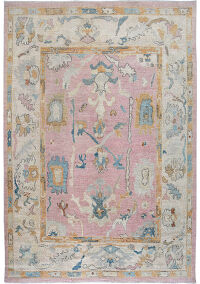 All-Over Oushak Turkish Oriental Vegetable Dye Area Rug 8x10