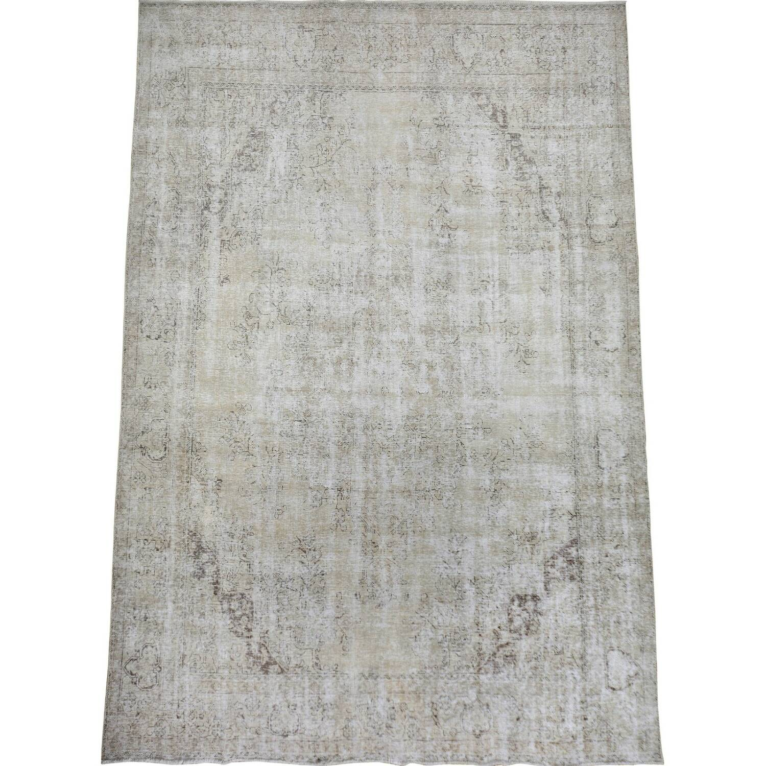 Antique Tabriz Persian Distressed Area Rug 9x12 image 2