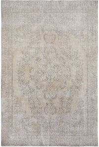 Antique Floral Tabriz Persian Distressed Area Rug 9x12