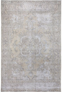 Antique Floral Tabriz Persian Distressed Area Rug 10x12