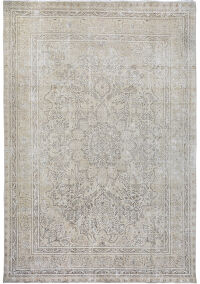 Antique Floral Tabriz Persian Muted Area Rug 10x12
