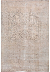 Antique Muted Tabriz Persian Distressed Area Rug 10x16