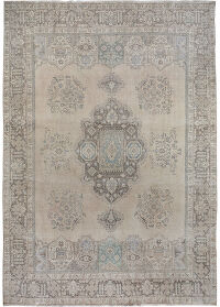 Antique Muted Tabriz Persian Area Rug 10x13