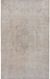 Antique Floral Tabriz Persian Distressed Area Rug 9x16