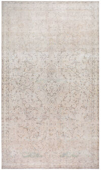 Antique Floral Tabriz Persian Distressed Area Rug 7x13