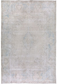 Muted Antique Kerman Distressed Persian Area Rug 10x13