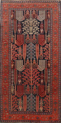 Pre-1900 Antique Heriz Bakhshayesh Persian Area Rug 5x10