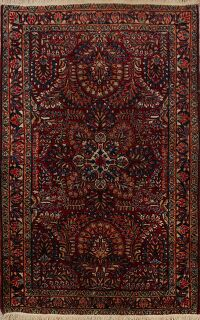 Antique All-Over Sarouk Persian Area Rug 3x5