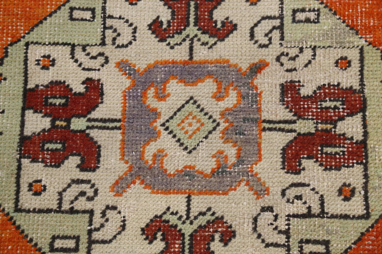 Geometric Anatolian Turkish Runner Rug 3x9 image 10