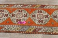 Geometric Anatolian Turkish Runner Rug 3x9 image 12