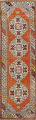 Geometric Anatolian Turkish Runner Rug 3x9 image 1