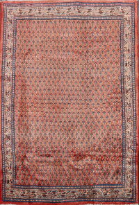 Vintage All-Over Boteh Botemir Persian Area Rug 4x7