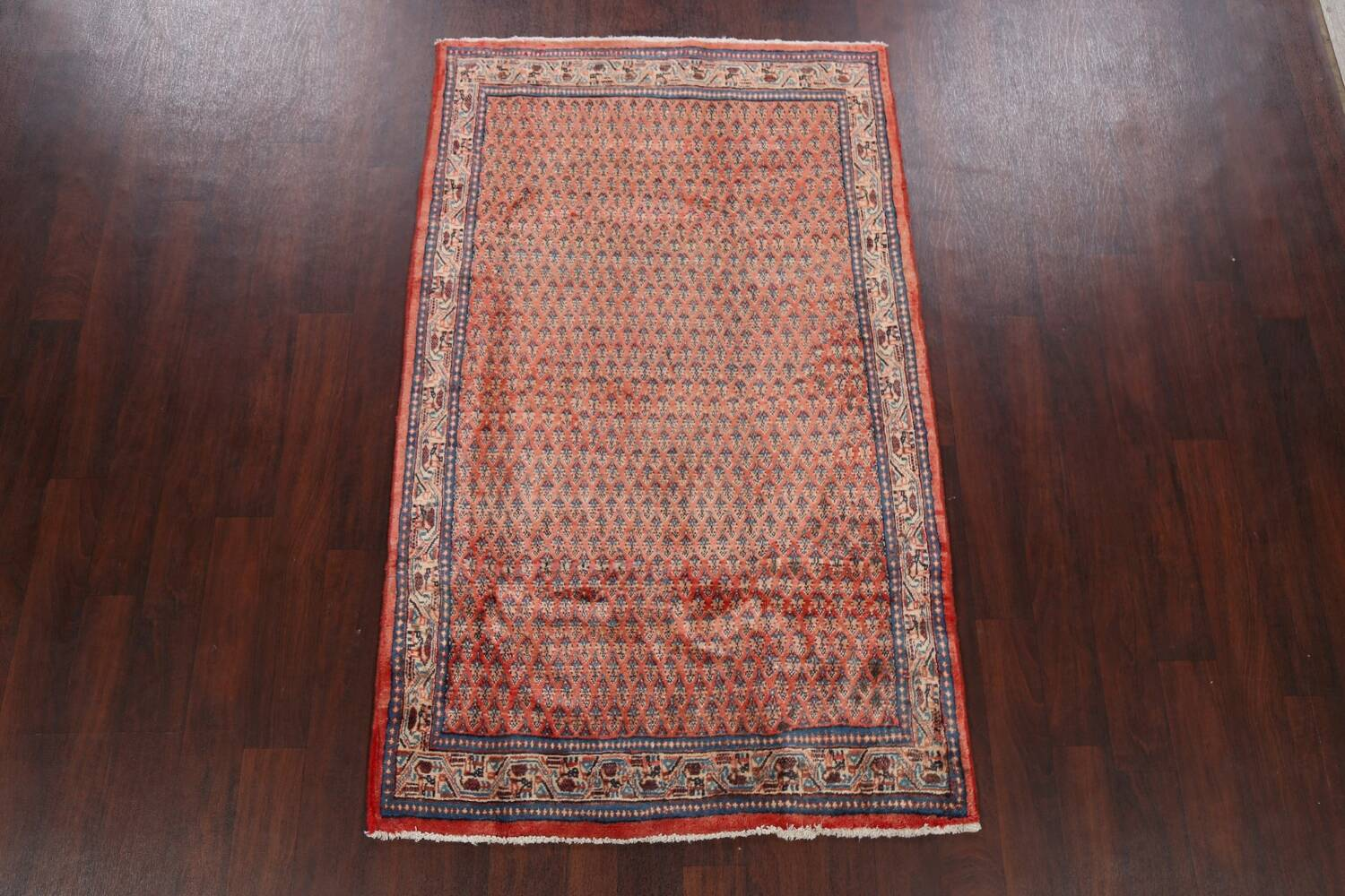 Vintage All-Over Boteh Botemir Persian Area Rug 4x7 image 2