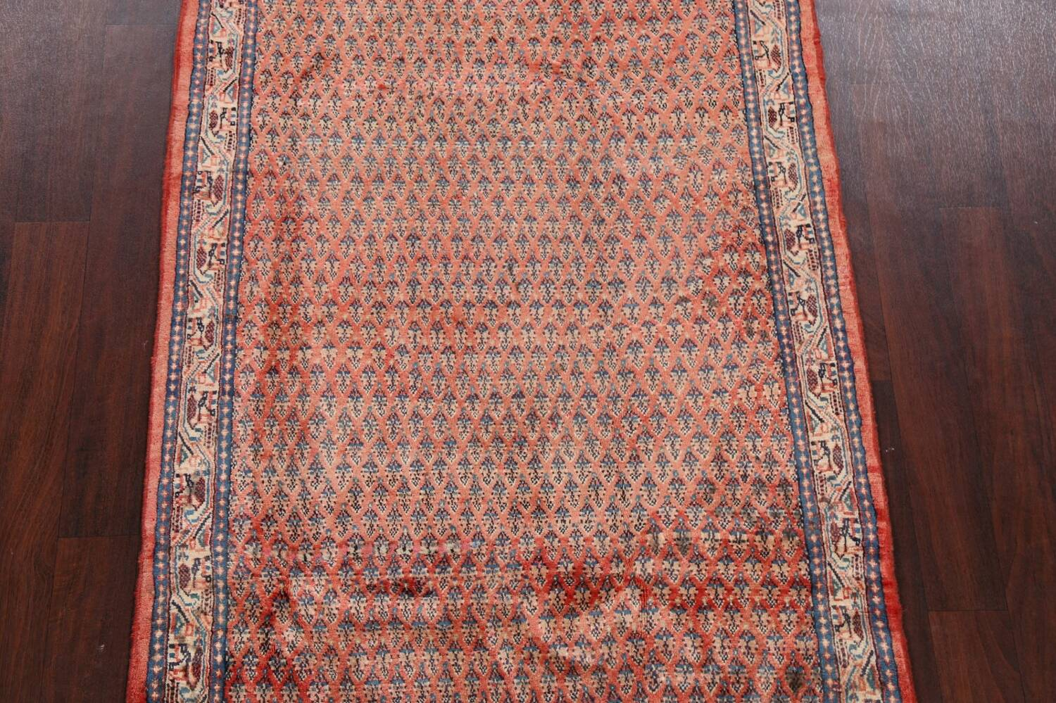 Vintage All-Over Boteh Botemir Persian Area Rug 4x7 image 3