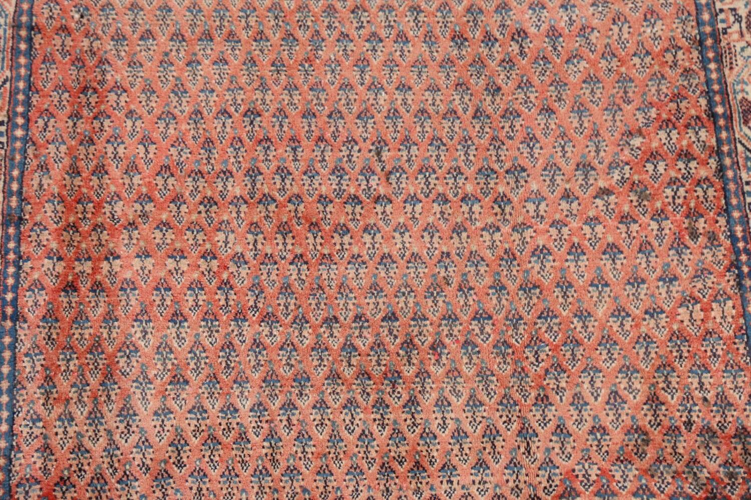 Vintage All-Over Boteh Botemir Persian Area Rug 4x7 image 4