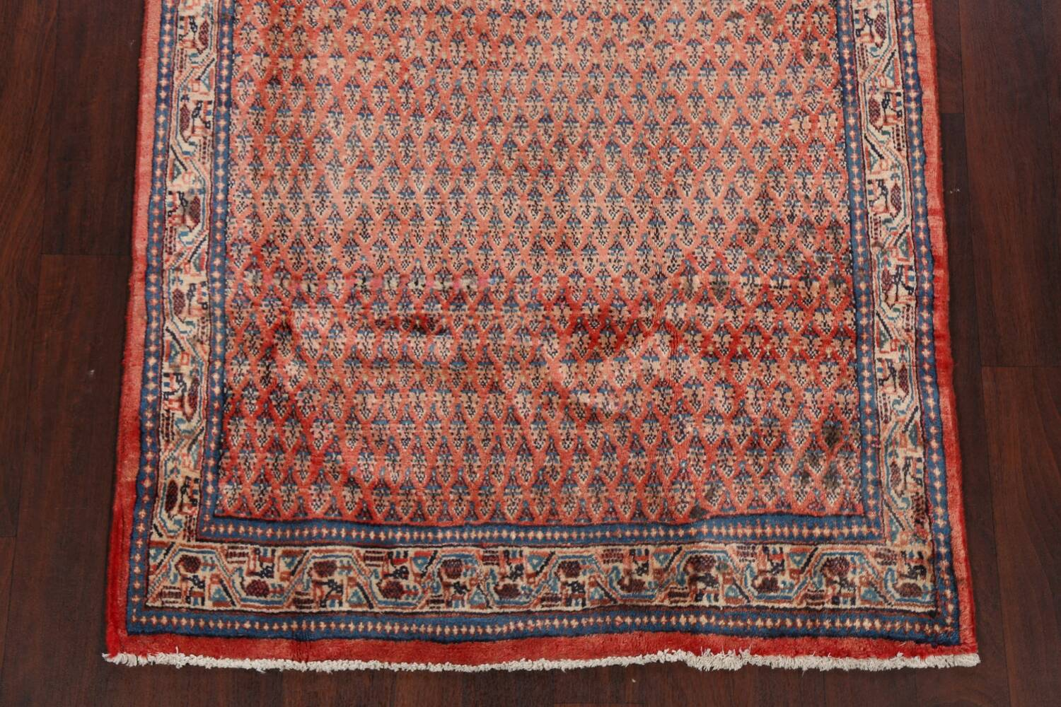 Vintage All-Over Boteh Botemir Persian Area Rug 4x7 image 8