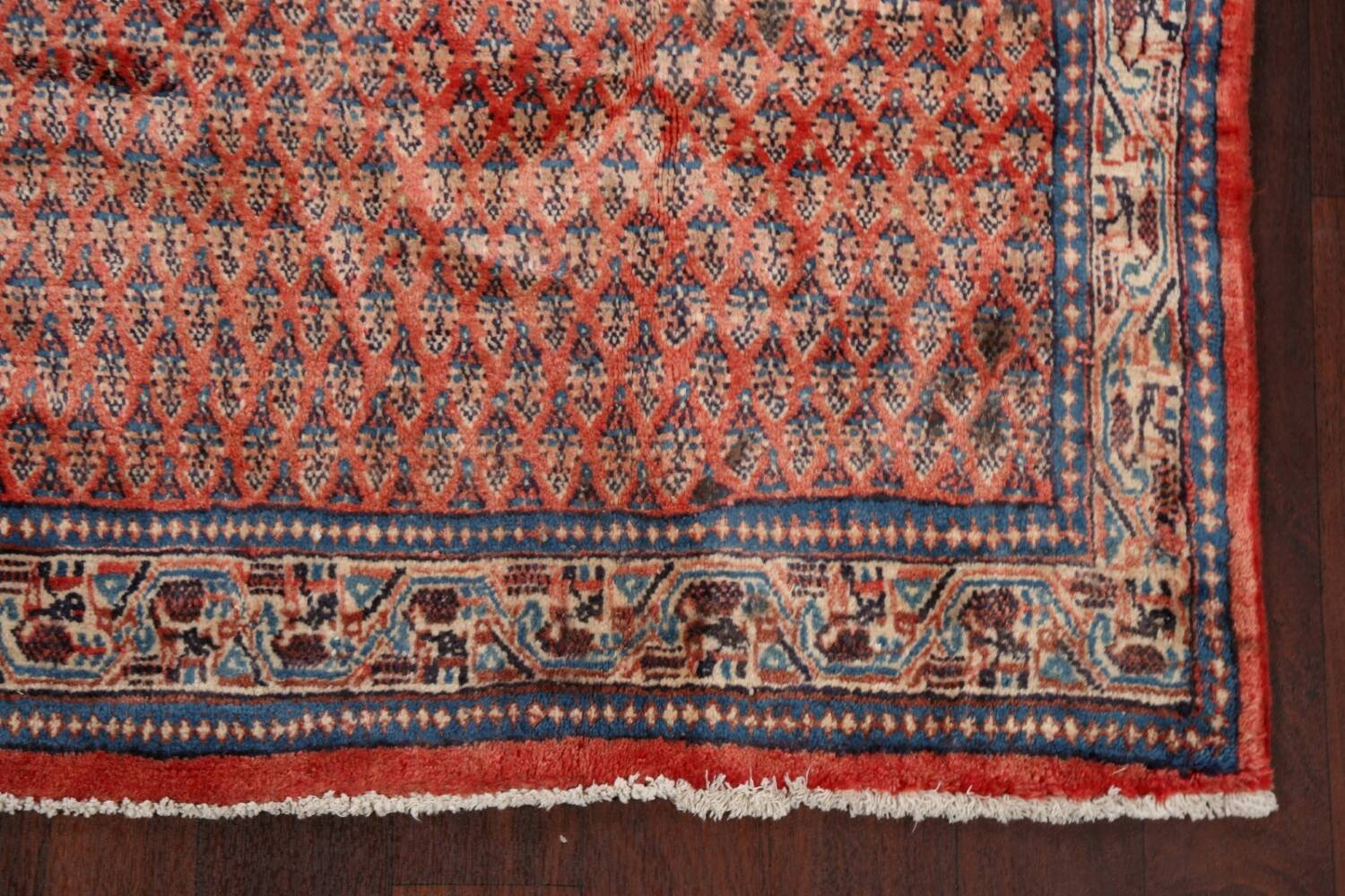 Vintage All-Over Boteh Botemir Persian Area Rug 4x7 image 5