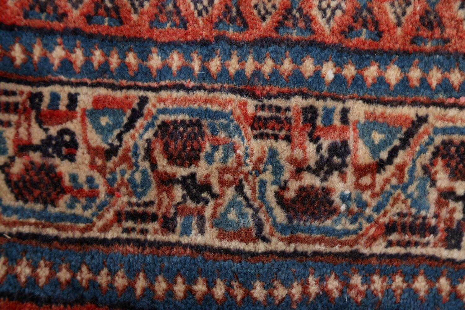 Vintage All-Over Boteh Botemir Persian Area Rug 4x7 image 9