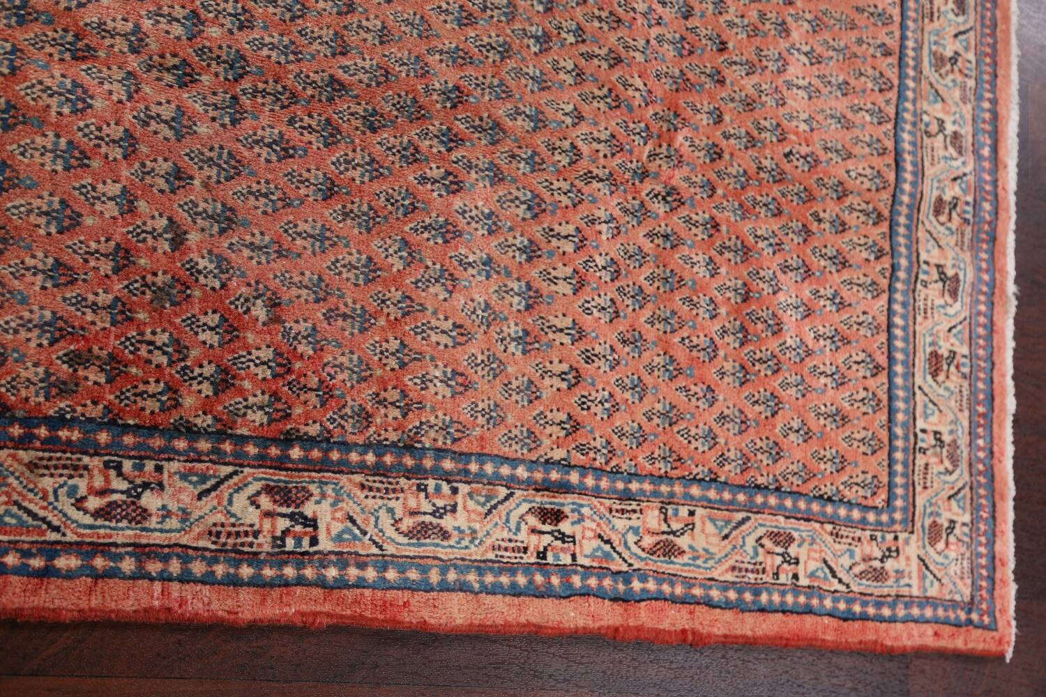 Vintage All-Over Boteh Botemir Persian Area Rug 4x7 image 16
