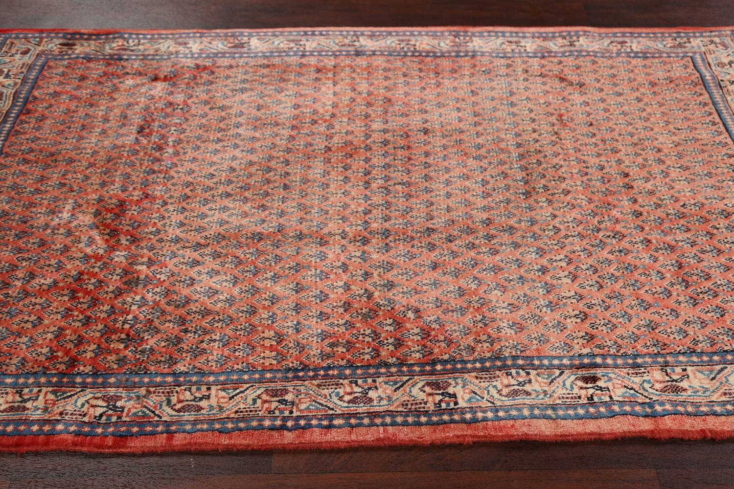 Vintage All-Over Boteh Botemir Persian Area Rug 4x7 image 17