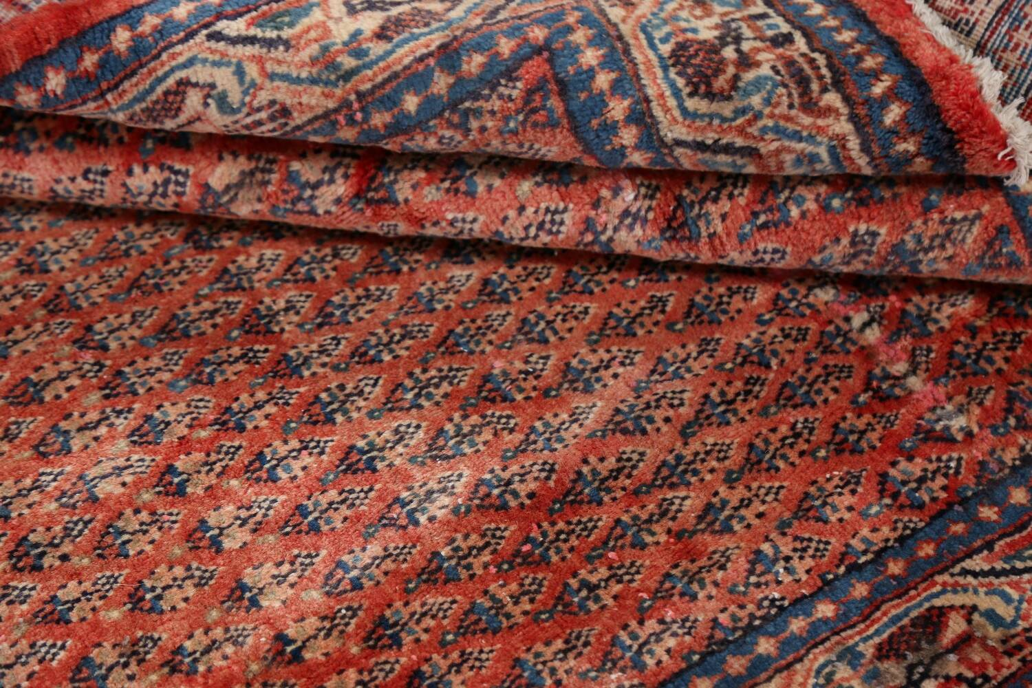 Vintage All-Over Boteh Botemir Persian Area Rug 4x7 image 19