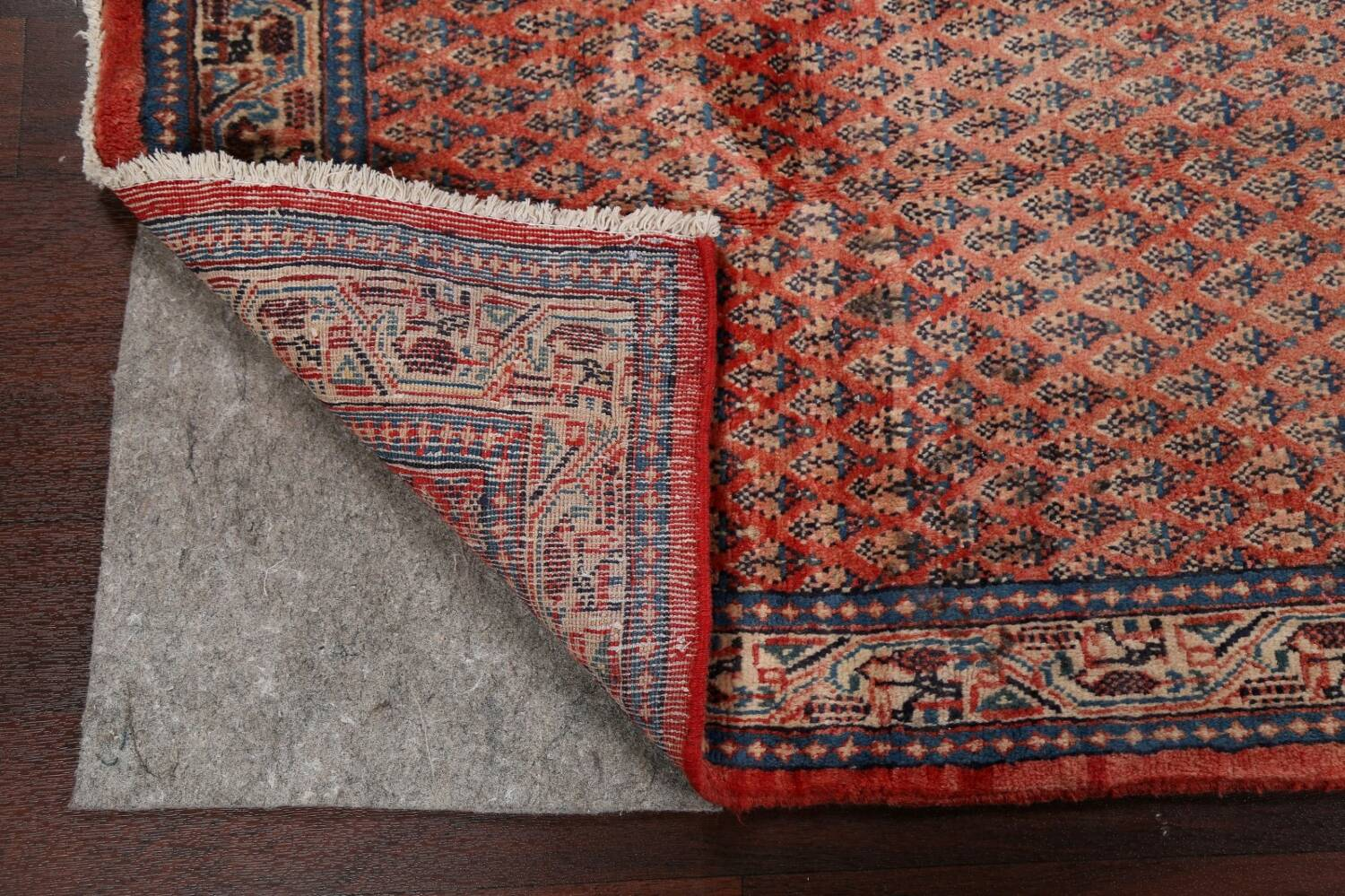 Vintage All-Over Boteh Botemir Persian Area Rug 4x7 image 7