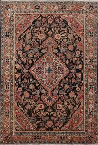 Antique 100% Vegetable Dye Malayer Persian Area Rug 5x7