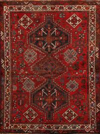 Pre-1900 Antique Tribal Shiraz Persian Area Rug 3x5