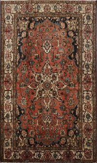 Antique 100% Vegetable Dye Bakhtiari Persian Area Rug 5x7