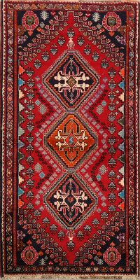 Tribal Geometric Abadeh Nafar Persian Area Rug 3x6