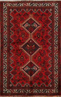 Little Animals Design Red Shiraz Persian Area Rug 3x5