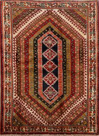Tribal Geometric Shiraz Persian Area Rug 4x6