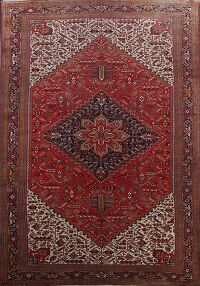 Antique 100% Vegetable Dye Heriz Persian Rug 13x23