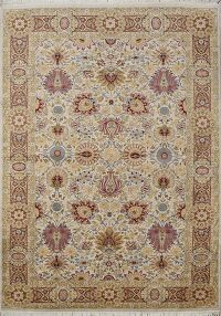 Vegetable Dye All-Over Tabriz Persian Area Rug 5x8