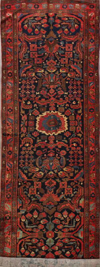 Antique 100% Vegetable Dye Malayer Persian Runner Rug 4x16