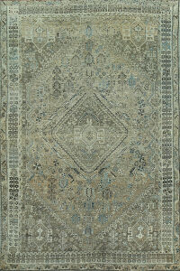 Pre-1900 Antique Qashqai Persian Area Rug 6x9