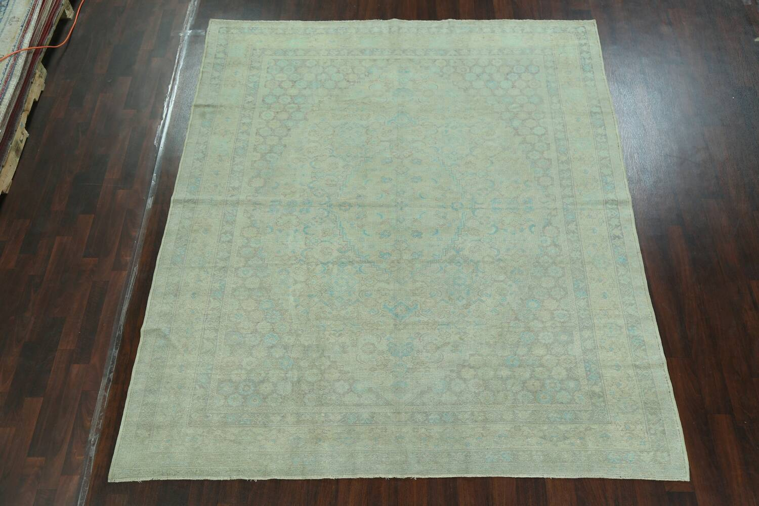 Antique 100% Vegetable Dye Sultanabad Persian Area Rug 8x9 image 2