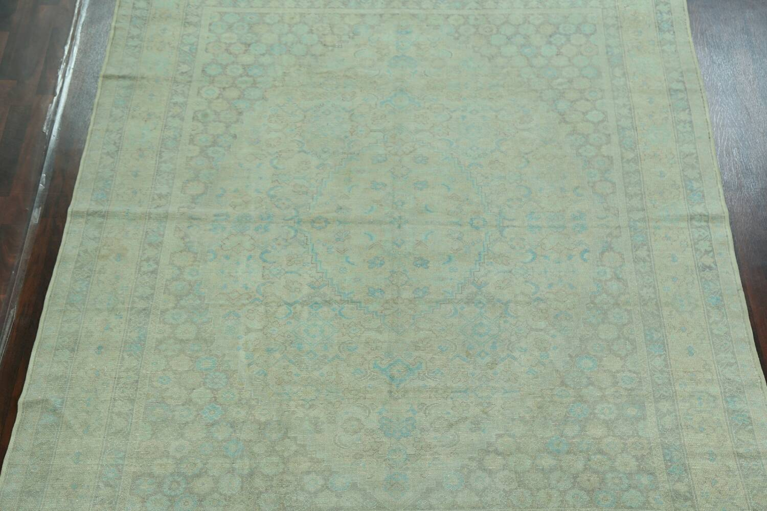 Antique 100% Vegetable Dye Sultanabad Persian Area Rug 8x9 image 3
