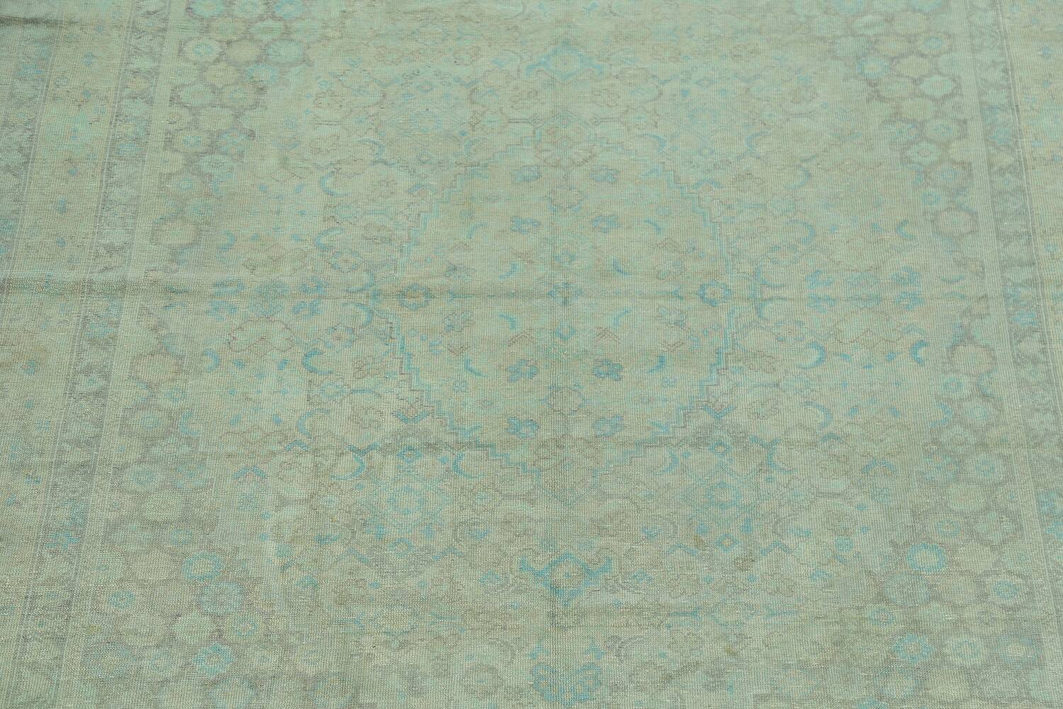 Antique 100% Vegetable Dye Sultanabad Persian Area Rug 8x9 image 4