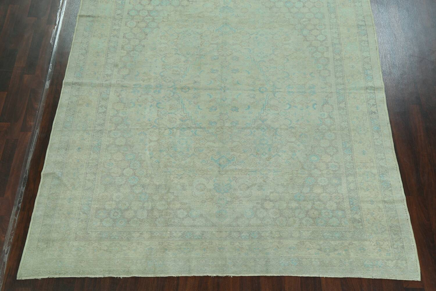 Antique 100% Vegetable Dye Sultanabad Persian Area Rug 8x9 image 8
