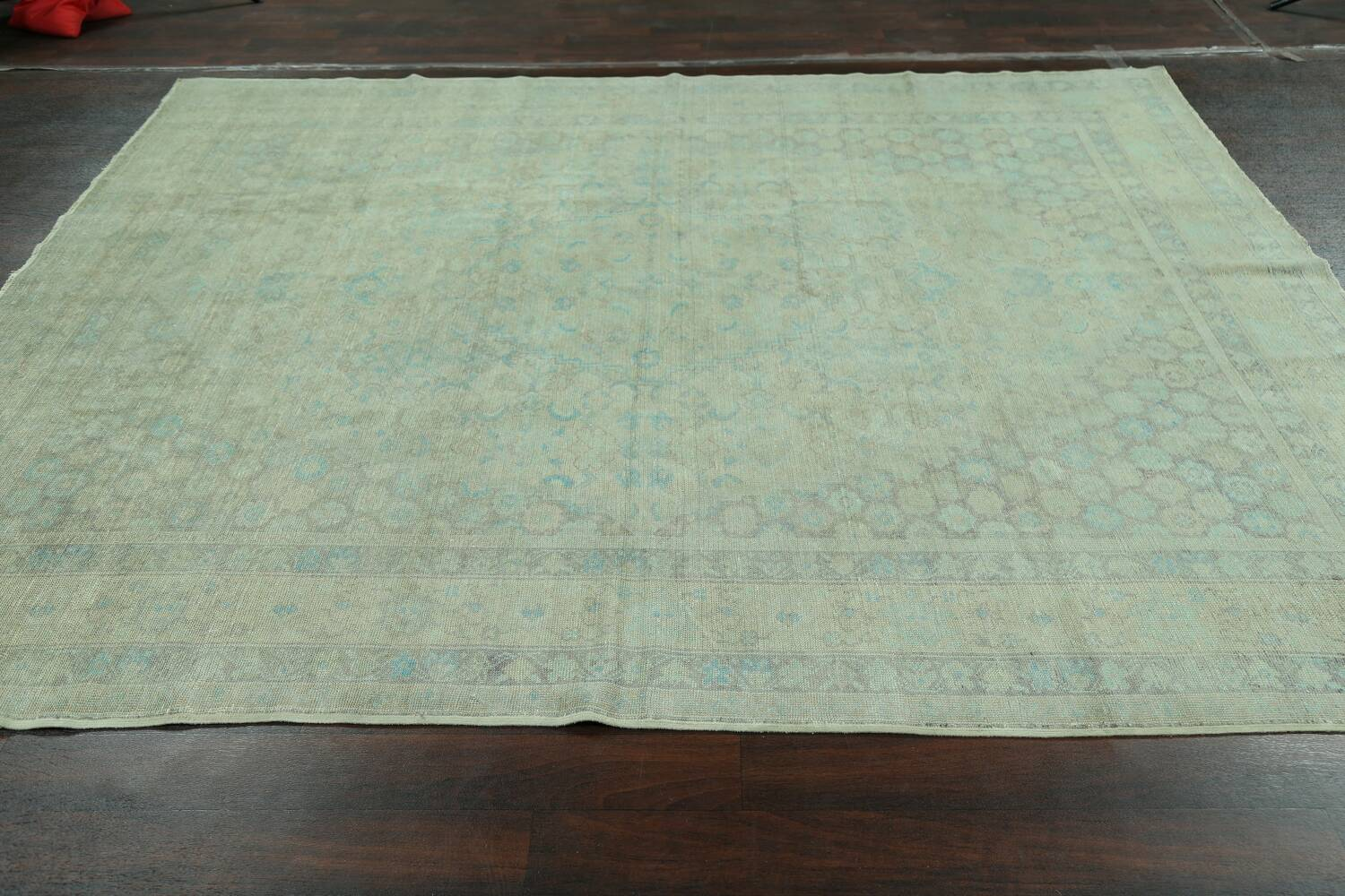 Antique 100% Vegetable Dye Sultanabad Persian Area Rug 8x9 image 16