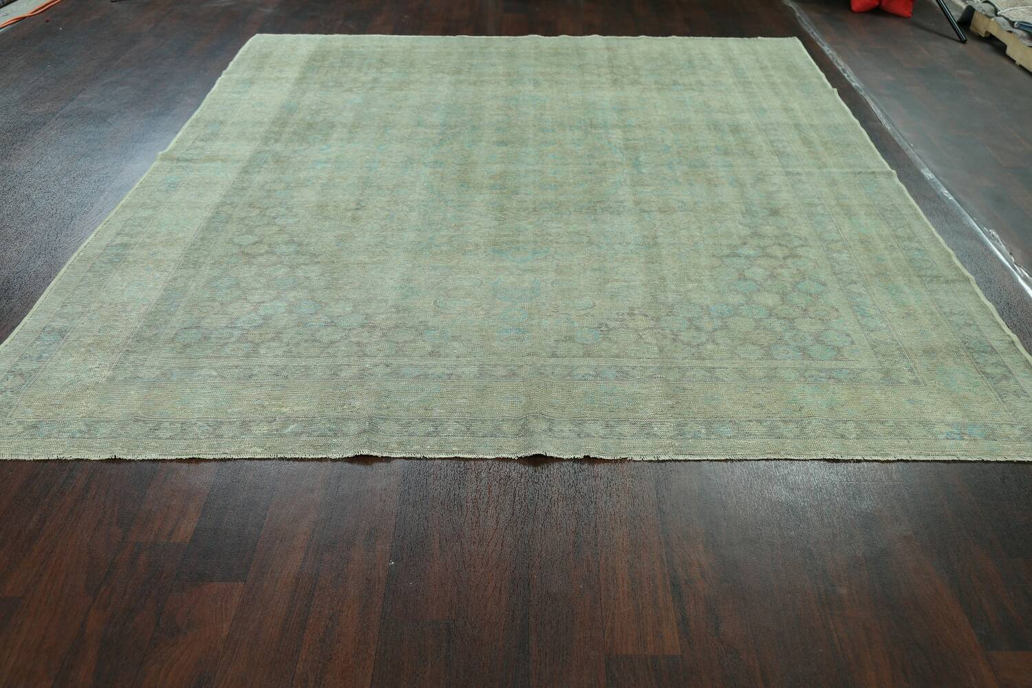Antique 100% Vegetable Dye Sultanabad Persian Area Rug 8x9 image 17
