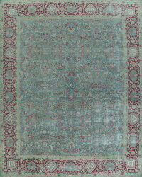 Pre-1900 Antique Vegetable Dye Sultanabad Persian Rug 13x15