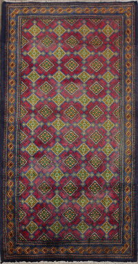 All-Over Geometric Ardebil Persian Area Rug 3x5
