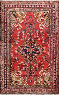 Vintage Floral Red Lilian Persian Area Rug 4x5